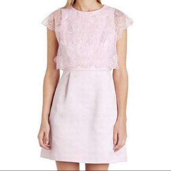 9c239ea660e41d Ted Baker Dabria Floral Bodice Pink Dress. M 5a52f5d12c705d1dbb01946e